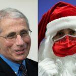 Le père Noël vacciné contre le Covid par le docteur Anthony Fauci